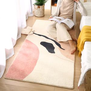 床前地毯臥室床邊毯長條簡約現代輕奢加厚房間地墊全鋪定制可機洗