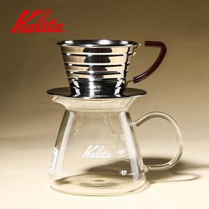 日本kalita 手冲咖啡壶套装 家用滴漏式滤杯玻璃分享壶过滤杯
