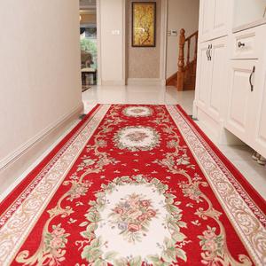 欧式走廊地毯过道防滑长条地毯门口地垫家用进门入户防水免洗定制