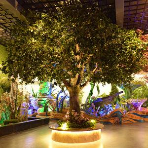 仿真树大型假榕树绿植盆栽仿真植物商场庭院酒店大厅盆景落地装饰