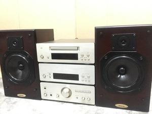 二手日本原裝DENON /天龍 F1 組合音響 英國原產313音箱 金色230V