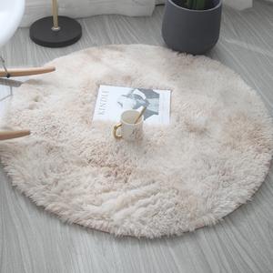 北歐ins圓形地毯臥室少女免洗客廳床邊毛毯吊籃電腦椅地墊瑜伽墊