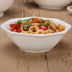 甜品汤碗粥碗沙拉碗韩式餐具瓷碗酒店陶瓷米饭碗八角碗云吞拉面碗