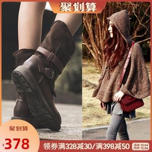 馬丁靴女英倫風靴子2020冬季女鞋加絨短靴真皮復古機車皮鞋中筒靴
