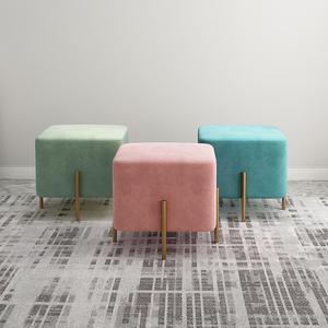 北欧创意ins网红沙发凳换鞋凳家用梳妆床尾凳鞋店试衣间长条矮凳