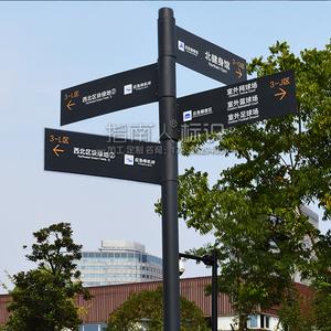 景区住宅小区指路牌广告立牌箭头分流指示牌公路标识牌多向导视牌