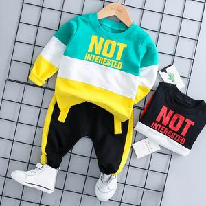 男童秋季2019新款婴幼儿童装宝宝衣服帅气两件套装0-1-2-3岁潮