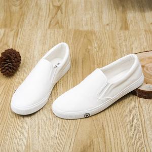 帆布鞋男韩版秋季低帮透气运动休闲潮鞋白色百搭男鞋子学生男板鞋