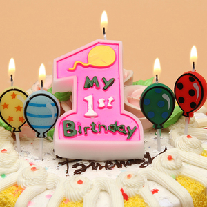 生日蜡烛 无烟大1蜡烛 宝宝周岁蜡烛蛋糕装饰派对用品创意蜡烛