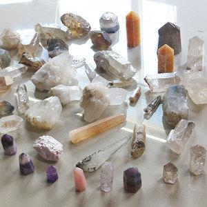 天然喜马拉雅白水晶茶紫晶发晶幽灵超七原石原矿能量水晶柱疗愈石