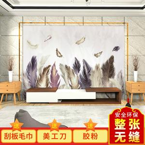 ?#32933;?#30005;视背景墙壁画客厅沙发墙壁纸3D立体墙纸卧室墙布 价格按平