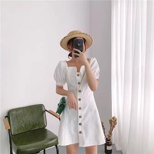 RPIN瑞品連衣裙女2019夏季新款甜美超仙chic復古裙智