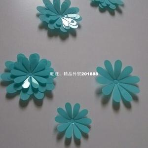 3D Mirror Wall Stickers Nice Home Decoration 12 pcs Flowers