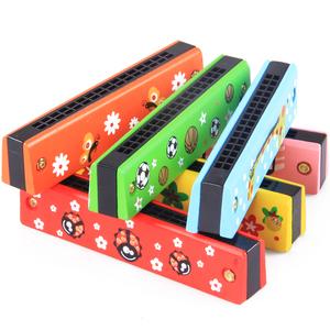 奥尔夫乐器16孔儿童口琴 宝宝音乐早教益智吹奏玩具 木质3-5-7岁