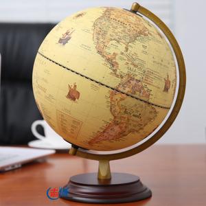 志诚 25cm美式复古地球仪台灯 32cm大号书房办公桌面摆件装饰礼品