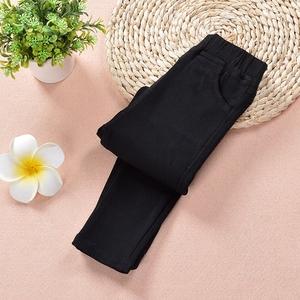 女童打底裤子春秋儿童纯棉加厚弹力小脚裤修身黑色外穿加绒铅笔裤