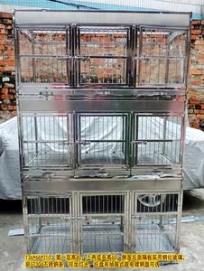 不锈钢LED灯光笼 猫笼定做 钢化玻璃展示笼 宠物店寄养笼 狗笼