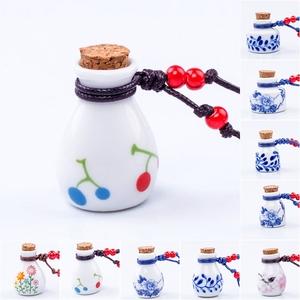 景德镇陶瓷项链 许愿瓶 毛衣链  小樱桃香水瓶 鼻咽壶 药罐