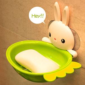 肥皂盒吸盤壁掛式香皂盒浴室衛生間置物架強力可愛瀝水創意肥皂架