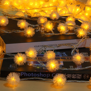 led彩灯闪灯串灯满天星节日生日户外庭院酒吧装饰防水雪花球灯串