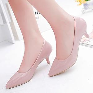5厘米高跟鞋女细跟白色