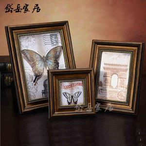 相框摆台挂墙复古欧式7寸6 10 12寸创意美式框架婚纱照片像框组合图片