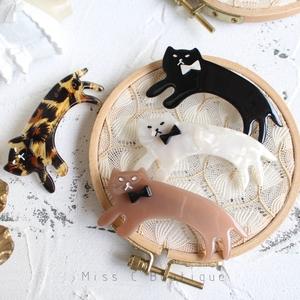 推荐日单奔跑的猫咪可爱乖萌多色小猫弹簧夹发夹发饰发卡韩国有售