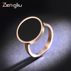 日韩国圆形装饰戒指 女夸张食指环个性潮人饰品戒子情侣?#22871;质?#39280;