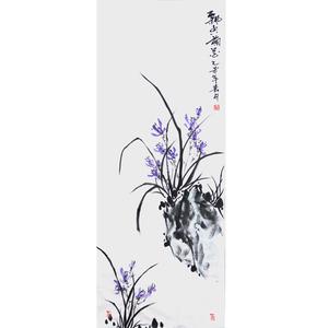 兰花水墨画