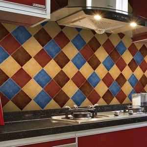 厨房防油贴纸墙纸自粘卫生间防水瓷砖贴纸仿古墙贴地板贴花砖地贴