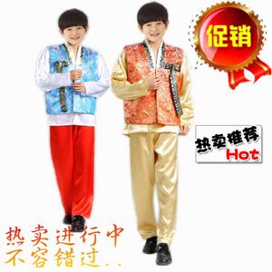 传统男士韩服韩国民族古装儿童礼服写真服 朝鲜少儿舞蹈演出服装