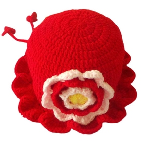 钩针婴儿毛线帽子