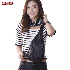 韩版女士胸包斜挎街头休闲百搭随身个性小包旅行包潮流女胸前皮包
