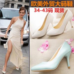 伪娘高跟鞋大码低价女单鞋图片
