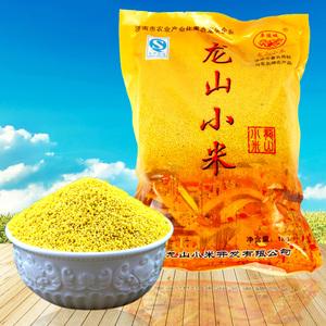 山東特産章丘龍山小米2019中秋小米寶寶月子米雜糧1kg袋裝黃小米