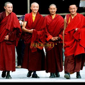 藏传佛教喇嘛僧服/僧衣/?#37038;?#26381;/纯棉缝制三件套?#24067;紜?#25259;单、平裙