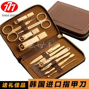 韩国777指甲刀套装修脚刀进口指甲钳指甲剪刀修甲刀正品美甲工具