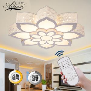 LED吸顶灯饰异形铁艺浪漫个性大气厅客厅卧室书房间荷花灯具圆形