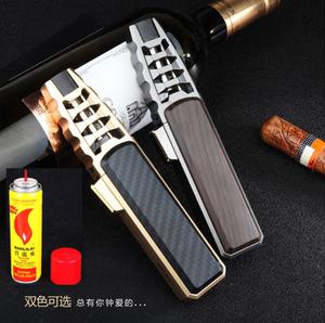 新款直沖焊槍藍焰充氣金屬打火機戶外焊槍