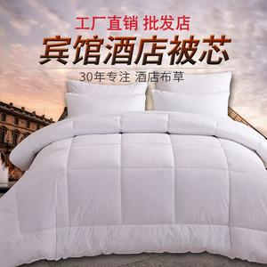 廠家批發賓館酒店床上用品加厚被芯被子全棉羽絲絨被夏被春秋冬被
