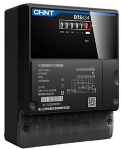 正泰昆仑DTS634新款三相四线电子式有功火表电度表380V工厂电表