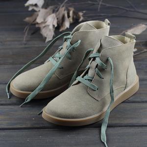 【时光的旅行】秋冬磨砂皮加绒马丁靴女日系森女靴子文艺休闲短靴