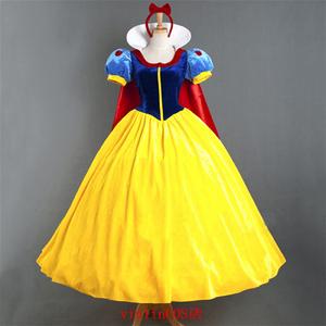 含披風成人白雪公主裙舞臺演出cosplay服 萬圣節服裝圣誕裝年會