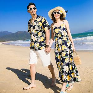 海灘服情侶裝夏裝2019新款泰國三亞旅遊衣服海邊度假蜜月性感套裝