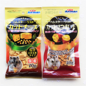 【78包邮】日本minianiman芝士奶酪粒70g/零食粒蚊子仓鼠小宠红薯啪松鼠游戏图片