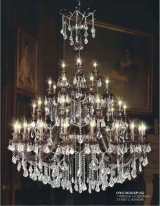 欧式复式楼大吊灯埃及进口水晶灯奢华别墅客厅灯具酒店大厅吊灯