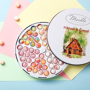 德國繽紛水果汁森林糖果屋進口跳棋糖硬糖鐵盒手工網紅糖果禮盒裝