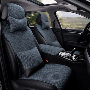 汽车坐垫亚麻四季垫小蛮腰A6L奥迪A3A7Q3Q2L Q7Q5L A4L专用车座垫
