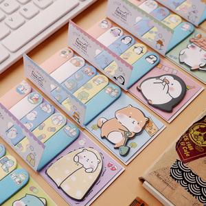 便利贴 n次贴 可爱卡通少女学生用索引创意 猫狗恐龙企鹅便条贴