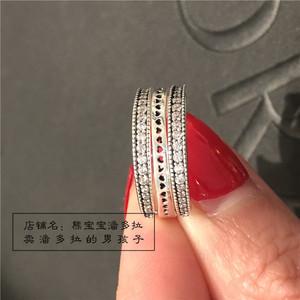 现货 潘多拉官网Pandora正品专柜 新品可旋转爱心戒指女197404cz